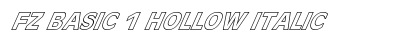 FZ BASIC 1 HOLLOW ITALIC preview