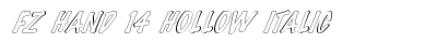 FZ HAND 14 HOLLOW ITALIC preview