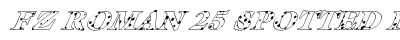 FZ ROMAN 25 SPOTTED ITALIC preview