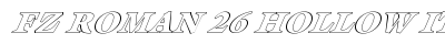 FZ ROMAN 26 HOLLOW ITALIC preview