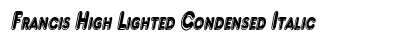 download Francis High Lighted Condensed Italic