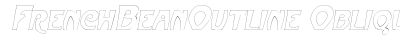 download French Bean Outline Oblique