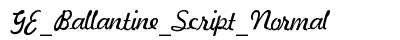 GE Ballantine Script Normal preview