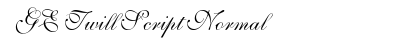 GE Twill Script Normal preview