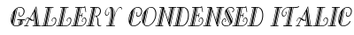 Gallery Condensed Italic preview