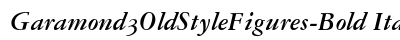 Garamond 3 Old Style Figures Bold Italic preview