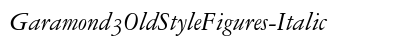 Garamond 3 Old Style Figures Italic preview