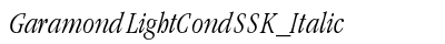 Garamond Light Cond SSK Italic preview