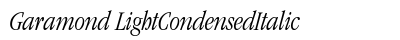 Garamond Light Condensed Italic preview
