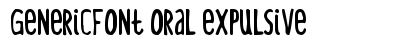 Generic Font Oral Expulsive preview