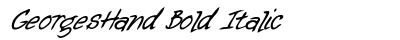 Georges Hand Bold Italic preview