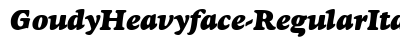 download Goudy Heavyface Regular Italic