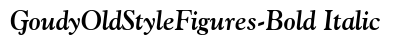 Goudy Old Style Figures Bold Italic preview