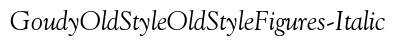 download Goudy Old Style Old Style Figures Italic