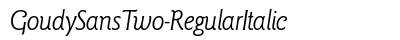 Goudy Sans Two Regular Italic preview
