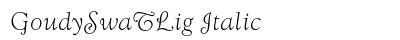 Goudy Swa T Lig Italic preview