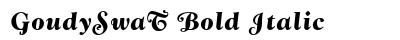 Goudy Swa T Bold Italic preview