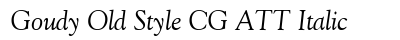 Goudy Old Style CG ATT Italic preview