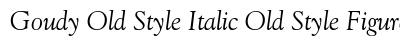 Goudy Old Style Italic Old Style Figures preview