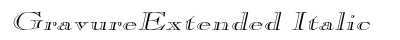 Gravure Extended Italic preview