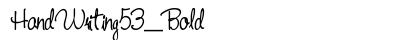 download Hand Writing 53 Bold
