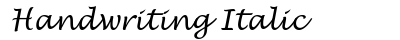 Handwriting Italic preview