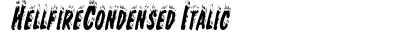 Hellfire Condensed Italic preview