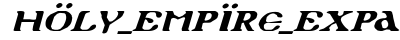 Holy Empire Expanded Italic preview