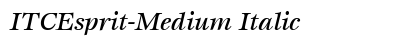 ITC Esprit Medium Italic preview