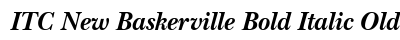 ITC New Baskerville Bold Italic Old Style Figures preview