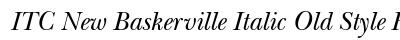 ITC New Baskerville Italic Old Style Figures preview
