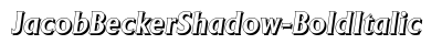 Jacob Becker Shadow Bold Italic preview