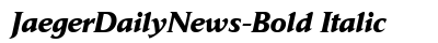 Jaeger Daily News Bold Italic preview