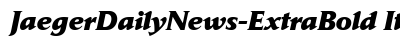 Jaeger Daily News Extra Bold Italic preview