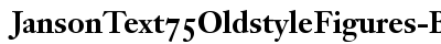 Janson Text 75 Oldstyle Figures Bold preview