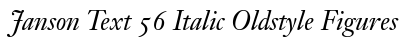 download Janson Text 56 Italic Oldstyle Figures