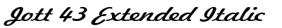 Jott 43 Extended Italic preview