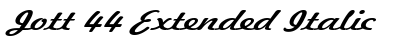 Jott 44 Extended Italic preview