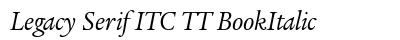 Legacy Serif ITC TT Book Italic preview