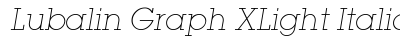 download Lubalin Graph X Light Italic