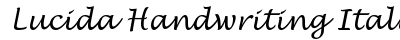 Lucida Handwriting Italic preview