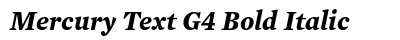 download Mercury Text G 4 Bold Italic