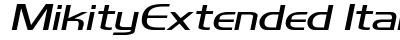 download Mikity Extended Italic