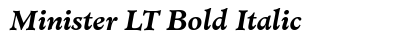 download Minister LT Bold Italic