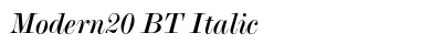 Modern 20 BT Italic preview