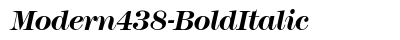 Modern 438 Bold Italic preview
