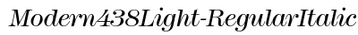 Modern 438 Light Regular Italic preview