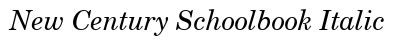 New Century Schoolbook Italic preview