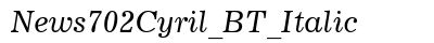 News 702 Cyril BT Italic preview