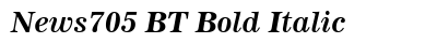 News 705 BT Bold Italic preview